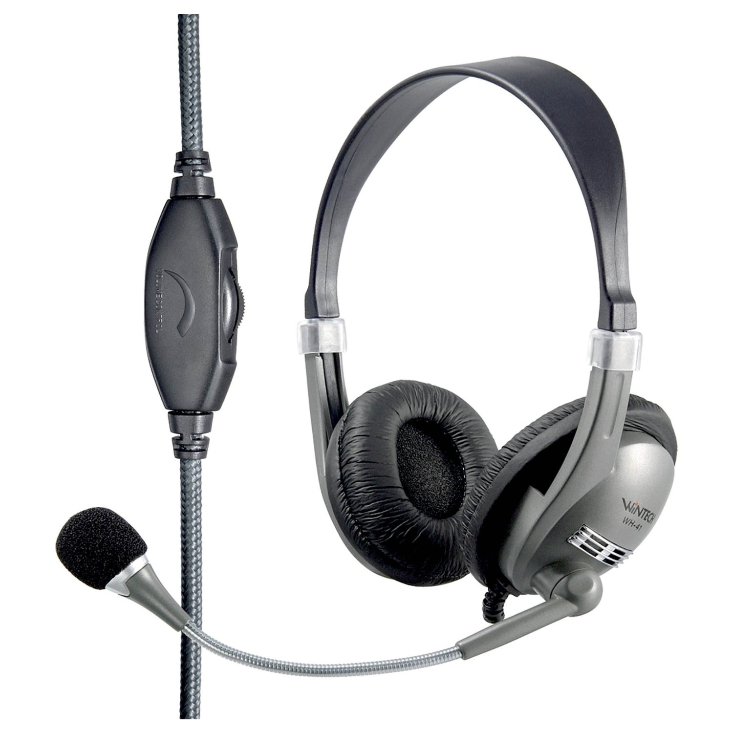 Wintech-WH-41-PC-Laptop-Multimedia-Gaming-Headset-Kopfhoerer-Kopfbuegel-Microfon